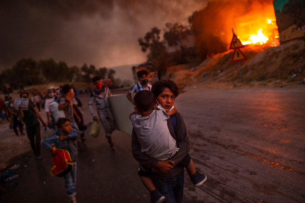 Lesbos, Greece: The flames of misery